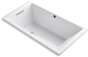KOHLER Underscore® 66 x 36 in. Combo Drop-In Bathtub with End Drain in White K1136-W1-0
