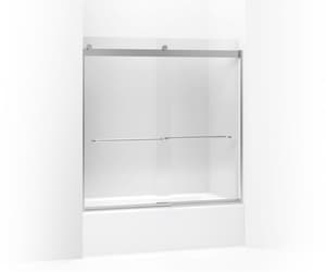 Kohler Levity® 57 in. Sliding Bath Door with 1/4 in. Crystal Clear Glass and Towel Bar K706005-L