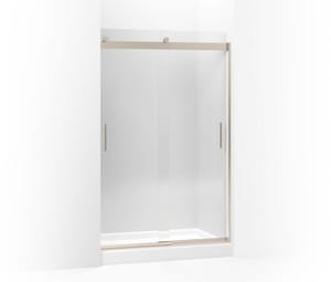 KOHLER Levity® 47-5/8 in. Shower Door with 1/4 in. Crystal Clear Glass and Towel Bar in Anodized Brushed Bronze K706008-L-ABV