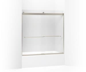 KOHLER Levity® 57 in. Sliding Shower Door with 1/4 in. Frosted Glass in Matte Nickel K706005-D3-MX