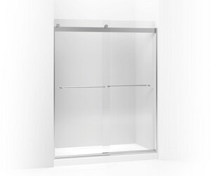 Kohler Levity® 59-5/8 in. Sliding Shower Door with 5/16 in. Crystal Clear Glass in Bright Polished Silver K706028-L-SHP