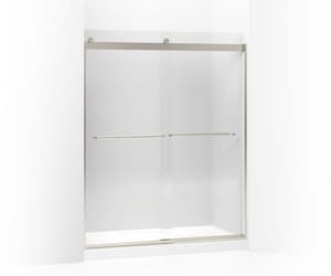 Kohler Levity® 74 x 60-1/4 x 59-5/8 in. Frameless Sliding Shower Door with Crystal Clear Glass in Matte Nickel K706015-L-MX