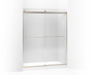 KOHLER Levity® 74 x 60-1/4 x 59-5/8 in. Frameless Sliding Shower Door with Crystal Clear Glass in Matte Nickel K706015-L-MX