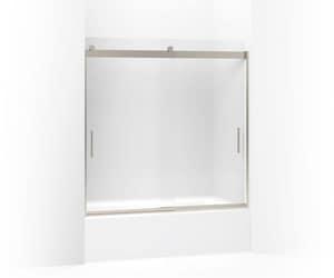 KOHLER Levity® 59-5/8 in. Frosted Bypass Shower Door in Matte Nickel K706002-D3-MX