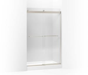 KOHLER Levity® 74 x 60-1/4 x 47-5/8 in. Frameless Sliding Shower Door with Crystal Clear Glass in Matte Nickel K706014-L-MX