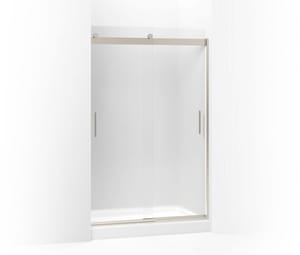 Kohler Levity® 74 x 59-5/8 in. Frameless Sliding Shower Door with Frosted Glass in Matte Nickel K706008-D3-MX