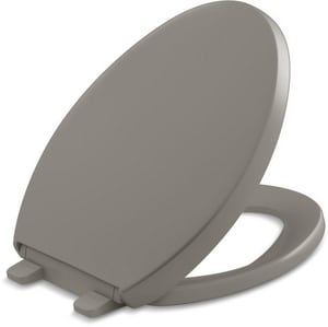 KOHLER Reveal® Quiet-Close™ Elongated Closed Front Toilet Seat with Cover in Cashmere K4008-K4