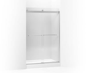 KOHLER Levity® 74 x 60-1/4 x 47-5/8 in. Frameless Sliding Shower Door with Crystal Clear Glass in Bright Silver K706014-L-SH