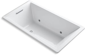KOHLER Underscore® 66 x 36 in. Drop-In Bathtub with Center Drain in White K1173-VBC-0