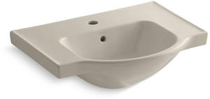 Kohler Veer™ 8 in. 1-Hole 1-Bowl Pedestal Lavatory Sink in Sandbar K5248-1-G9