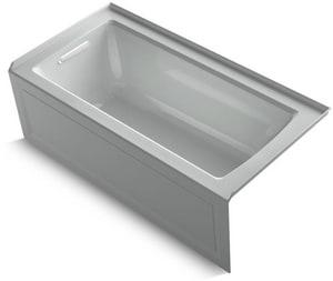 KOHLER Archer® 60 x 30 in. Soaker Alcove Bathtub Left Drain in Ice™ Grey K1946-LA-95