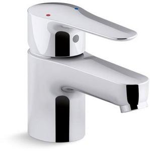 Kohler July™ Single Handle Monoblock Bathroom Sink Faucet in Polished Chrome K97282-4-CP
