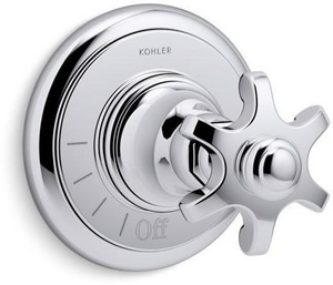 Kohler Artifacts® Volume Control Valve Trim with Single Prong Handle in Polished Chrome KT72771-3M-CP