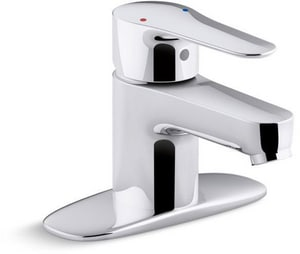 Kohler July™ Single Handle Centerset Bathroom Sink Faucet in Polished Chrome K98146-4-CP