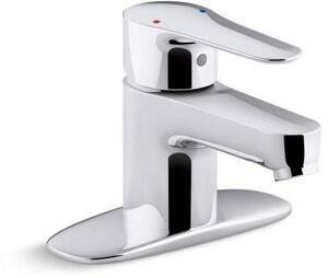 KOHLER July™ Single Handle Centerset Bathroom Sink Faucet in Polished Chrome K98146-4-CP