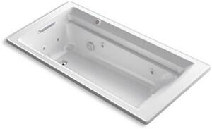 Kohler Archer® 72 x 36 in. Whirlpool Drop-In Bathtub with Reversible Drain in White K1124-XHG-0