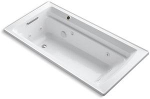 Kohler Archer® 72 x 36 in. Whirlpool Drop-In Bathtub with Reversible Drain in White K1124-W1-0