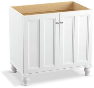 Kohler Damask® 34-1/2 x 36 in. Vanity with Furniture Leg and 2-Door in Linen White K99518-LG-1WA