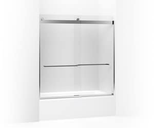 Kohler Levity® Front Sliding Glass Panel and Assembly Kit for Bath Door in Bright Polished Silver K706207-L-SHP