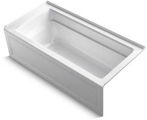 Kohler Archer® 66 x 32 in. Air Bath Alcove Bathtub with Right Drain in White K1949-GRA-0