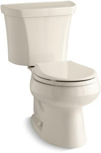 KOHLER Wellworth® 1.6 gpf Round Toilet in Almond with Right-Hand Trip Lever K3987-RA-47