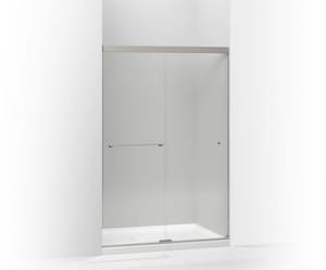 KOHLER Revel™ 76 in. Clear Bypass Shower Door in Anodized Brushed Nickel K707106-L-BNK