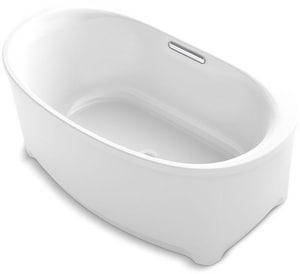 KOHLER Underscore® 59-11/16 x 35-3/4 in. Freestanding Bathtub with Center Drain in White K5701-0
