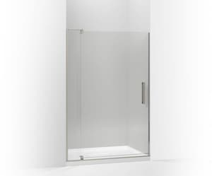 KOHLER Revel™ 48 in. Pivot Shower Door with 5/16 in. Crystal Clear Glass in Anodized Brushed Nickel K707556-L-BNK