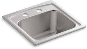 KOHLER Toccata™ 15 x 15 in. 2 Hole Stainless Steel Drop- Bar Sink K3349-2-NA