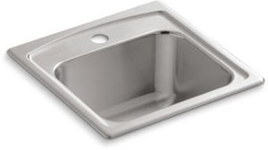 KOHLER Toccata™ 15 x 15 in. 1 Hole Stainless Steel Drop- Bar Sink K3349-1-NA