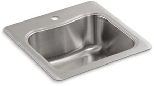 KOHLER Staccato™ 20 x 20 in. 1 Hole Stainless Steel Drop- Bar Sink K3363-1-NA