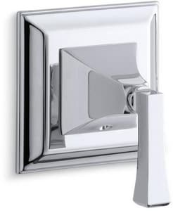 Kohler Memoirs® Single Lever Handle Transfer Valve Trim Deco Lever Handle in Polished Chrome KT10424-4V