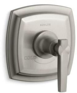 Kohler Margaux® Thermostatic Valve Trim with Lever Handle in Vibrant Brushed Nickel KT16239-4-BN