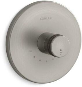 Kohler MasterShower® 3-Way Thermostatic Valve Trim in Vibrant Brushed Nickel KT10182-7-BN