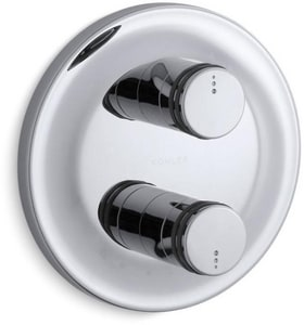 Kohler MasterShower® Stack Valve Trim in Polished Chrome KT10183-7