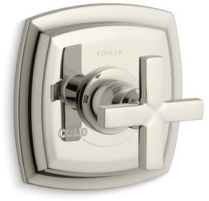 Kohler Margaux® Thermostatic Valve Trim with Cross Handle in Vibrant Polished Nickel KT16239-3-SN