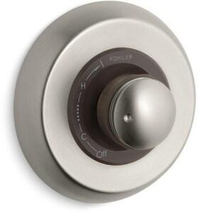 Kohler MasterShower® Pressure Balancing Valve Trim with Single Cylinder Handle in Vibrant Brushed Nickel KT9492-7-BN