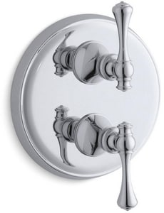 KOHLER Revival® Single Lever Handle Traditional Stack Valve Trim in Polished Chrome KT16176-4A-CP