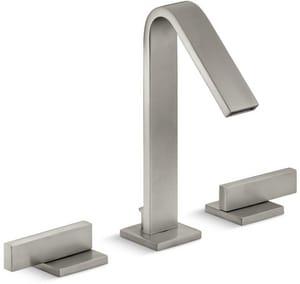 KOHLER Loure® Two Handle Widespread Bathroom Sink Faucet in Vibrant Brushed Nickel K14661-4-BN
