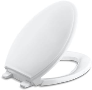 Kohler Glenbury™ Quiet-Close™ Elongated Closed Front Toilet Seat in White K4733-0
