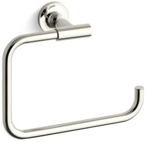 Kohler Purist® Rectangular Open Towel Ring in Vibrant Polished Nickel K14441-SN