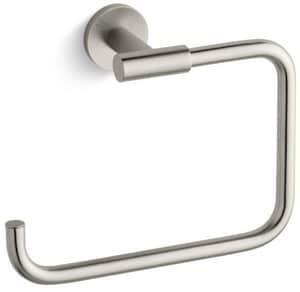 Kohler Stillness® Rectangular Open Towel Ring in Vibrant Brushed Nickel K14456-BN
