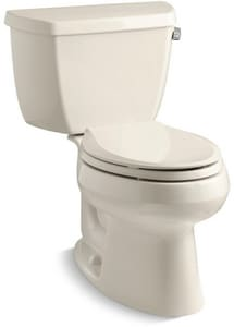 Kohler Wellworth® 1.28 gpf Elongated Toilet in Almond with Right-Hand Trip Lever K3575-RA-47