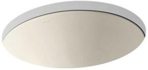Kohler Caxton® 1-Bowl Undermount Lavatory Sink with Center Drain in Almond K2205-47