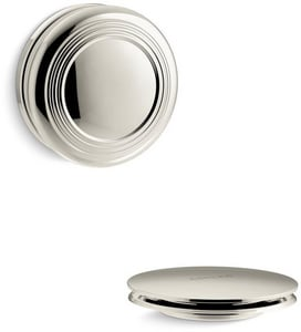 Kohler PureFlo™ Traditional Push Button Cable Bath Drain Trim in Vibrant Polished Nickel KT37396-SN