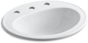 Kohler Pennington® Drop-In Lavatory Sink with 8 in. Widespread Faucet Holes K2196-8