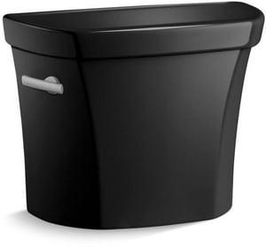 Kohler Wellworth® 1.28 gpf Toilet Tank in Black Black with Left-Hand Trip Lever K4467-U-7