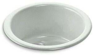 KOHLER Porto Fino™ 18-3/8 x 18-3/8 in. Drop-in and Undermount Cast Iron Bar Sink in Sea Salt K6565-FF