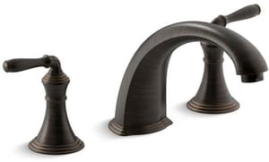 Kohler Devonshire® Two Handle Roman Tub Faucet in Oil Rubbed Bronze Trim Only KT398-4-2BZ