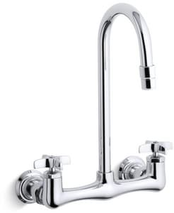 KOHLER Triton® Two Cross Handle Wall Mount Service Faucet in Polished Chrome K7320-3-CP